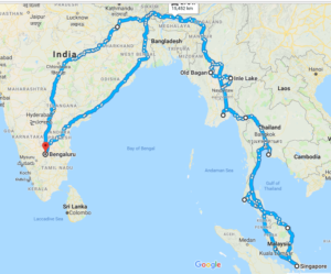General Information About This All Women Self Driven India To Singapore And Return Road Expedition