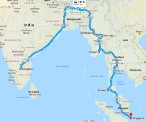 General Information About This Self Driven India To Singapore Road Expedition 5 Nations One Way Trip